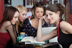 Homework with Friends Royalty Free Stock Image