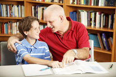 Homework Help from Dad stock photo