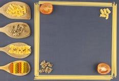 Homework pasta, creating the menu Stock Image
