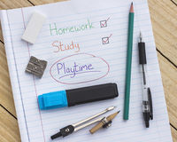 Homework and study Stock Photography