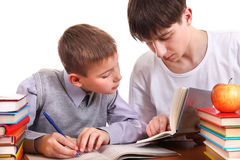 Homework Together Stock Images