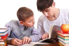 Homework Together Stock Images