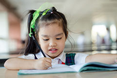 Homework is too much for little kids Royalty Free Stock Photos