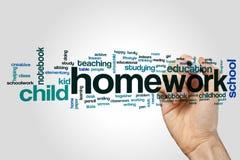 Homework word cloud Stock Image