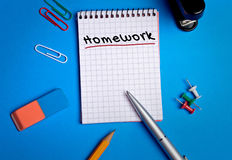 Homework word Royalty Free Stock Image