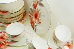Homey dishware set Royalty Free Stock Image