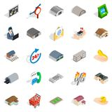 Homey icons set, isometric style. Homey icons set. Isometric set of 25 homey vector icons for web isolated on white background Royalty Free Stock Photo