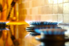 Homey kitchen, fire and energy Royalty Free Stock Photo