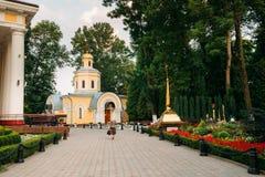 Homiel', Bielorussia Chiesa vicino al parco della città di Peter And Paul Cathedral In Immagine Stock