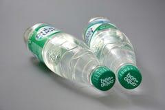 HOMIEL', BIELORUSSIA - 29 maggio 2018: Acqua potabile BON AQUA in una bottiglia di plastica immagini stock