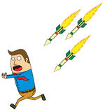 Homing missile attack Royalty Free Stock Photo