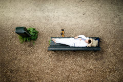 Homless man resting Royalty Free Stock Photography