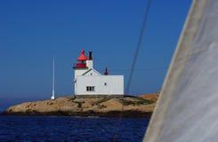 Homlungen Lighthouse in Norway Stock Image