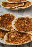 Hommade Turkish Pizza, Lahmacun Stock Photography