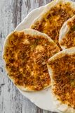 Hommade Turkish Pizza, Lahmacun Royalty Free Stock Image