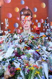 Hommage à David Bowie Photo libre de droits