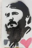 Hommage à Fidel Castro en Catalogne carrée, Barcelone, Spai Photo stock