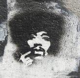 Hommage à Jimmy Hendrix Image libre de droits