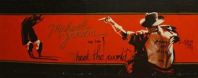 Hommage à Michael Jackson images stock
