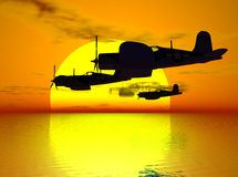 Hommage à un aviateur tombé Image stock