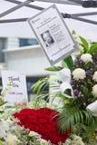 Hommage au premier ministre ex de Singapour, Lee Kuan Yew Image libre de droits