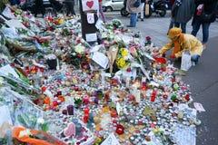 Hommage aux tirs de Bataclan de victimes Image libre de droits