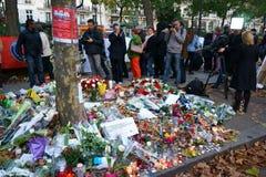 Hommage aux tirs de Bataclan de victimes Images stock