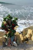 Hommage commémoratif près de Half Moon Bay, la Californie images libres de droits