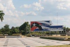 Hommage d'affiche à Ernesto Che Guevara Le texte, dans l'Espagnol, indiquent images stock