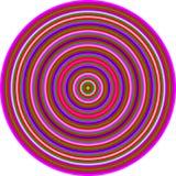 Hommage d'art op aux cercles multicolores de CT Image stock