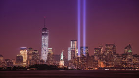 Hommage dans la lumière de Liberty State Park, NJ Image stock