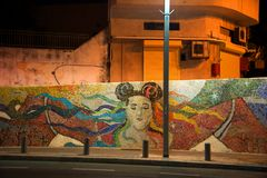 Hommage de graffiti au chanteur Netta, Jaffa, Israël photographie stock