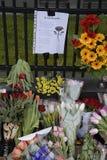 HOMMAGE DE SALAIRE DE PERSONNES AUX VICTIMES DE BRUXELLES Photo libre de droits