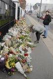 HOMMAGE DE SALAIRE DE PERSONNES AUX VICTIMES DE BRUXELLES Photographie stock