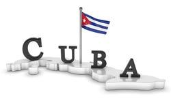 Hommage du Cuba illustration libre de droits