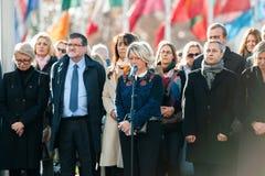 Hommages étant présentés après que Paris attaque les attaques af de Paris Photos libres de droits