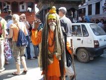 Homme à Katmandou Images libres de droits