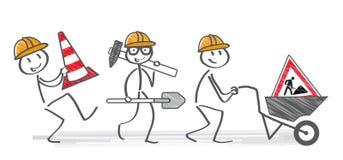 Homme à l'illustration de travail Image stock