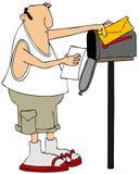 Homme à la boîte aux lettres illustration de vecteur