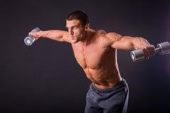 Homme à la gymnastique Image stock