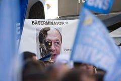 Homme à la protestation nationale de salaire d'élément Image libre de droits