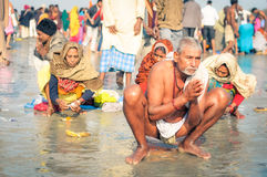 Homme à moitié nu dans le Bengale-Occidental Photos stock
