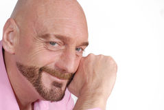 Homme âgé moyen attirant image stock