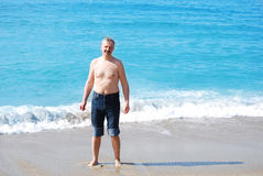 Homme âgé moyen bel Image libre de droits