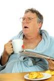 Homme âgé moyen perturbé Image stock