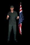 Homme âgé moyen, soldat image libre de droits