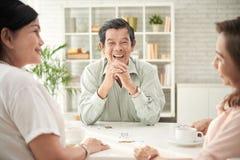 Homme âgé riant Images libres de droits