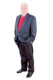 Homme élégant décontracté sûr plus âgé dans un costume Images stock