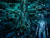 Homme électronique illustration stock