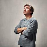Homme éloigné Photographie stock libre de droits